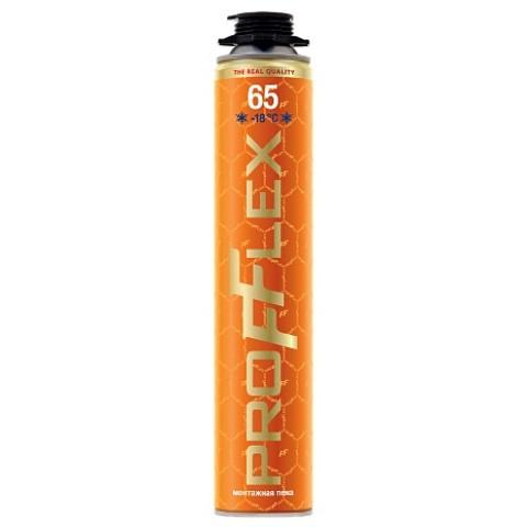 Профессиональная монтажная пена PROFFLEX PRO GOLD 65 ЗИМА 850 мл