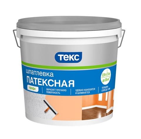 Шпатлёвка латексная ТЕКС «ПРОФИ» 16 кг