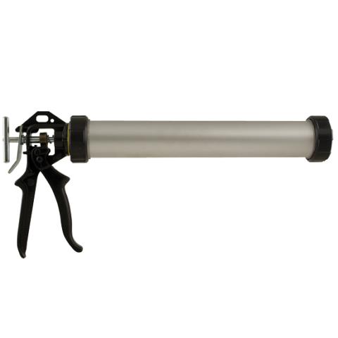 Пистолет для герметика 600 мл алюминиевая туба