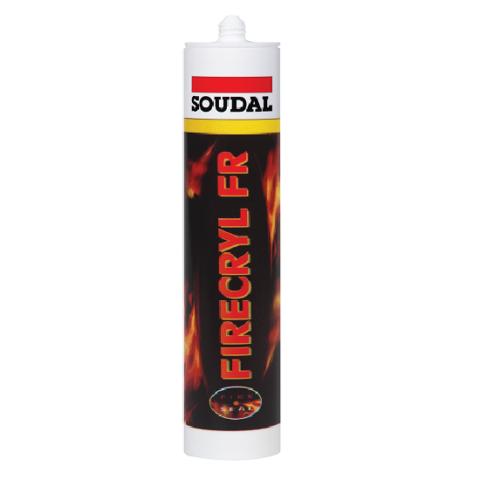 Огнестойкий акриловый герметик SOUDAL FIRECRYL FR белый 310 мл